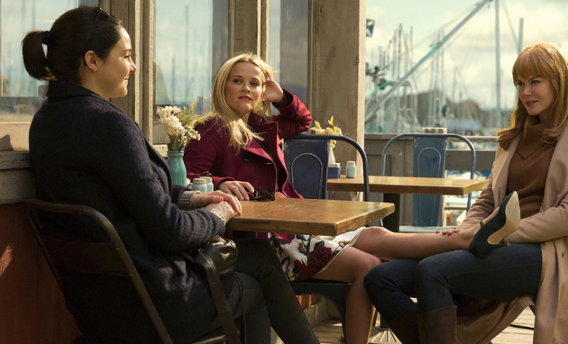 Shailene Woodley, Reese Witherspoon e Nicole Kidman em Big Little Lies